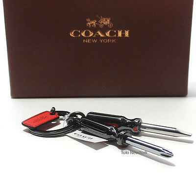 New Coach F64142 Screwdriver Key Fob Chain AUTHENTIC