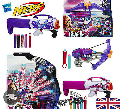 NERF Gun Rebelle Secret Shot Blaster Diamondista Bow Blaster Darts Toy Girls√
