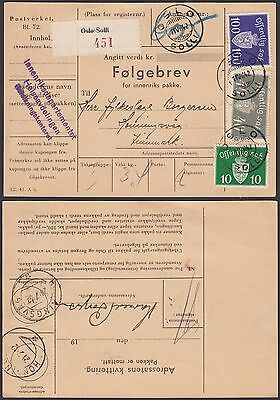Norway 1942 - Delivery note ......................................(G29957) A4956