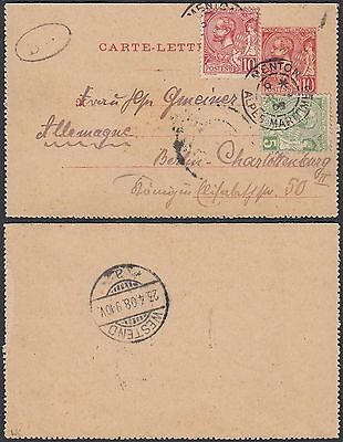 Monaco 1908 - Postal stationary card to Berlin ...................(G29957) A4965