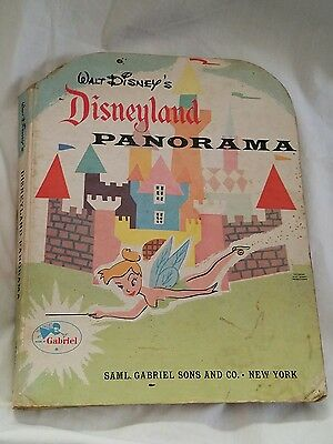 Vintage Walt Disneys Disneyland Panorama Fold Out Child Book *RARE* Saml Gabriel