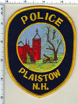 Plaistow Police (New Hampshire)  Shoulder Patch  - new from 1987