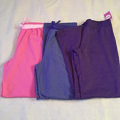 Circo Girl's Pajama Pants Lot 3 Pc Sleep Set Bottoms Sz XL 14 16 Pink Purple NEW