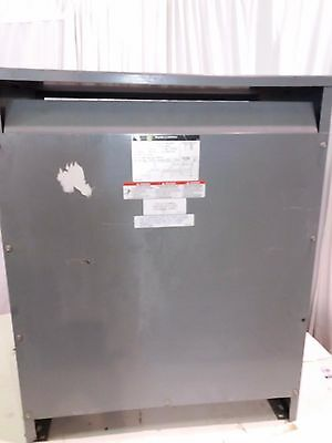 TESTED! SQUARE D 51T145HDIT 51 kVA 51kVA TRANSFORMER 460V to 266V 3 PHASE 60Hz