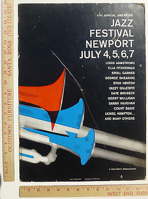 4th Annual Newport Jazz Festival Louis Armstrong Ella Fitzgerald Gillespie 1957