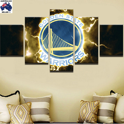 Golden State Warriors Decor Canvas Wall Art Picture Landscape (5piece)