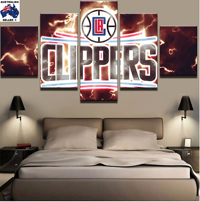 Los Angeles Clippers  Decor Canvas Wall Art Picture Landscape (5piece)