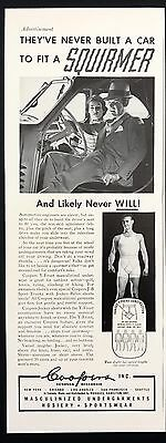 1937 Vintage Print Ad 1930s COOPER'S Men's Underwear Sports Wear Fashion