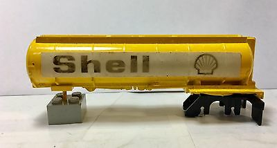 Aurora AFX hand painted Prototype/Mock-Up Yellow Shell Tanker Trailer