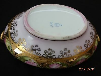 Vintage (Bee Hive Stamped On Bottom)  Painted Porcelain Bowl