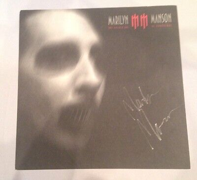 Golden Age of Grotesque Marilyn Manson Signed Double Sided Poster