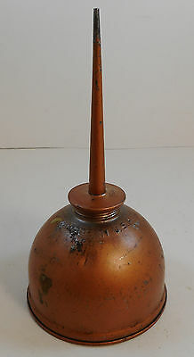 Vintage Eagle Metal Oil Can Machine Oiler Copper Color Thumb Pump Press 8""