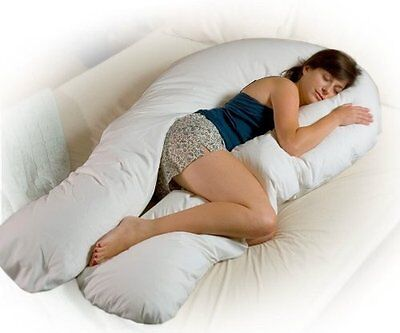 Maternity Bodypillow Pregnancy Pillow Body Shaped Comfy Back Sleep Support New