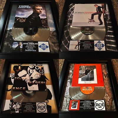 3 VERY RARE! Justin Timberlake Platinum Record Album Disc Music Award MTV RIAA
