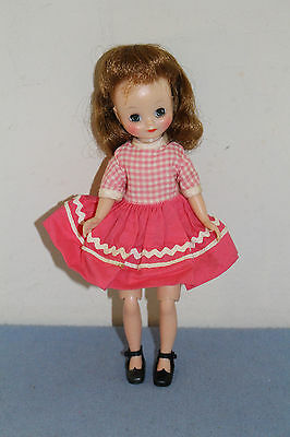 "#6 Vintage 8"" American Character Betsy McCall Pink & White #8154 ""Recess"" Dress"