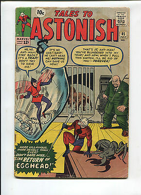 Marvel Tales to Astonish  #45  Very Good  Silver Age Comic  1960's