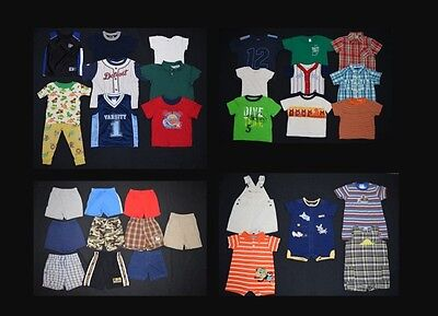 HUGE 33 piece Baby Boy Toddler size 18 months spring summer clothing lot!