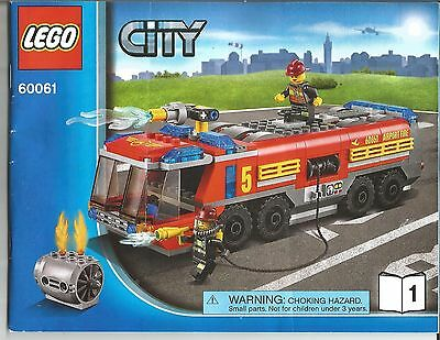 Lego City - 60061 Instruction Booklet - Airport Fire Truck (2 Book Set)