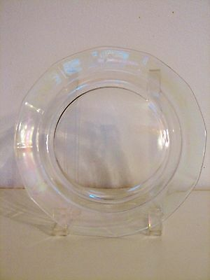 Fostoria Glass FAIRFAX Mother of Pearl Iridescent Salad Plates - 7 1/2 inch