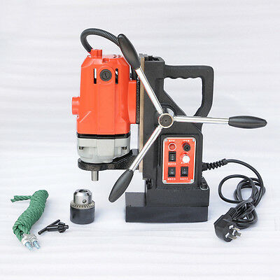 """EFL Magnetic Drill Press Rotate Stepless Speed 0.6"""" Boring Cutter Tool 110V 220V"""