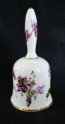 Hammersley Victorian Violets Porcelain Bell From England'S Bountryside