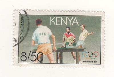 1991 KENYA 8s.50 TABLE TENNIS Olympic Games, Barcelona (1992) stamp  SG#552 CTO