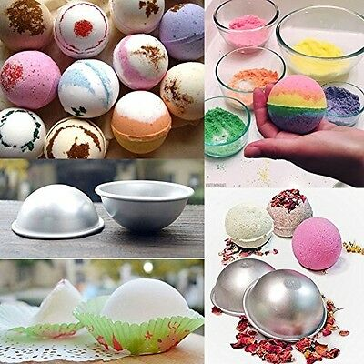 DIY Metal Bath Alloy Bomb Mold Mould 3 Sizes 8Pcs for Crafting Own Fizzles New