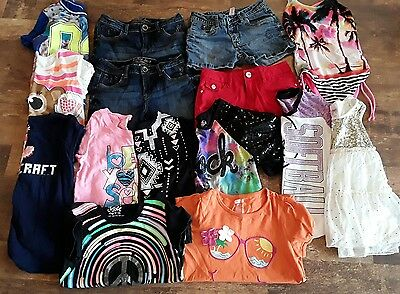 Justice,Crazy 8 Girls Lot 14 Sumer Clothes  blouse,t-shirts, shorts  Size 10-12