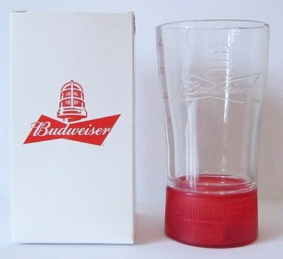 Budweiser Nhl Light Up Glass / Cup - Red (New, See Description).