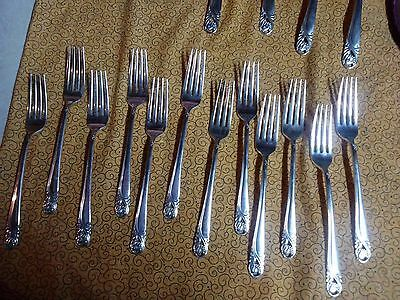 "55 pcs set Antique Lot International Sterling Silver ""Spring Glory""  Silverware"