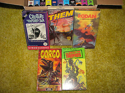 Lot Of 16 Vintage Classic Monster Giant Horror Sci Fi Rare OOP VHS Cassettes