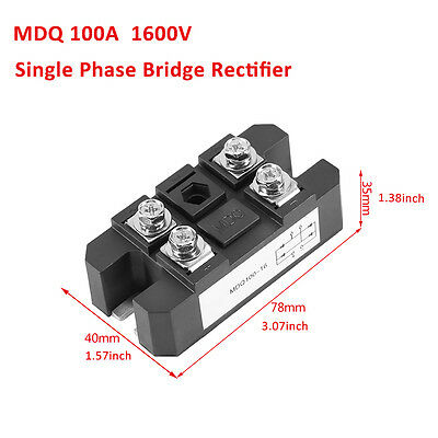 MDQ-100A 100 Amps 1600V Single Phase Bridge Rectifier Controller Full Wave Diode