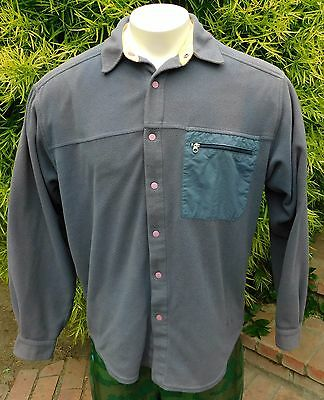 Patagonia Vintage Micro D-Luxe Snap Up Fleece Long Sleeve Us Mens Sz M Gray