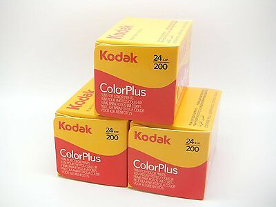 Kodak 35mm ColorPlus 200 ASA Film  24 Exposures  3 Pack