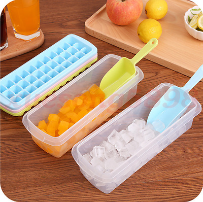 New Creative tape with a storage ice box ice shovel frozen home ice tray mold