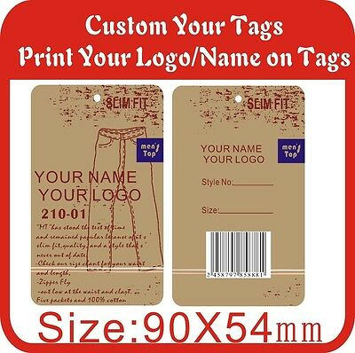 500PCS Custom tags print your logo on tag 300gsm Paper Hang Tags,Garment tags M5