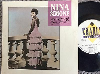 "NINA SIMONE - MY BABY JUST CARES FOR ME p/s 7"" vinyl single record"