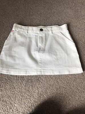 Lacoste Girls/ Kids Skirt Tennis Style Age 10 Cotton Button Front Holiday