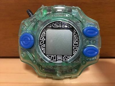 RARE 1999 Used Digimon Adventure Digivice Clear Green Normal Color Bandai JP F/S