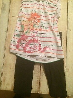 girl s outfit top and leggings. size 8 france top leggings size 3