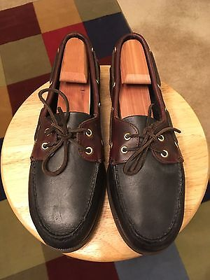 Sperry Top-Sider Dark Brown Leather Loafer/Boat Men's Shoes 11.5 W