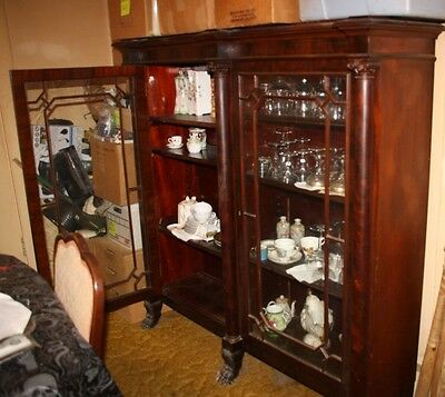 Antique Dining Room Set - Hutch, Sideboard, Table & 6 Chairs