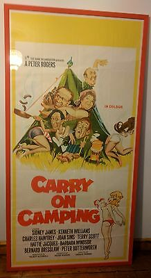 Carry On Camping Original UK 3 Piece Poster Framed