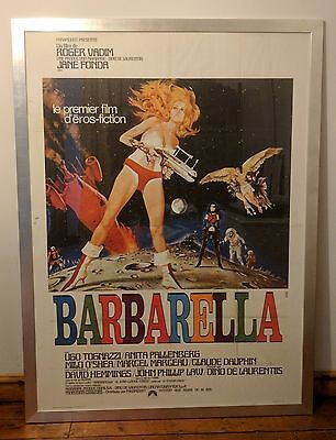 Barbarella 1968 Original French Movie Poster  Framed
