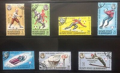 SOUTH ARABIA - QU'AITI STATE IN HADHRAMAUT STAMPS. 1967. Winter Olympics 1968