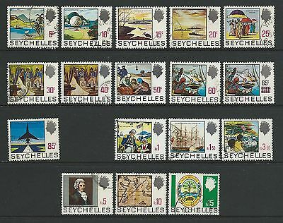 Seychelles SG262-279 (Excl SG273) 1969 Definitives (excl 96c) Fine Used
