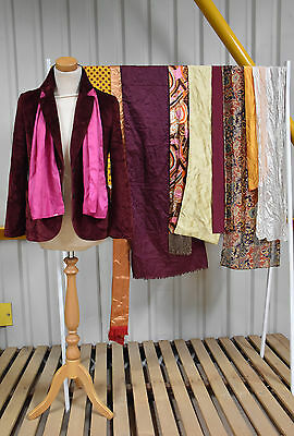 Job Lot Of 10 Vintage Dress Scarves. Mix Of Colours, Sizes And Styles.