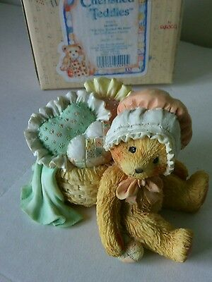 "Jasmine Bear Figurine China ""You Have Touched My Heart"" Bears Teddy Teddies Gift"