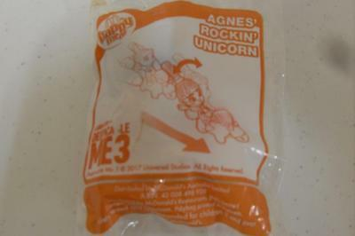 Mcdonald's Happy Meal Toy -Despicable Me 3 -AGNES' ROCKIN' UNICORN New In Packet