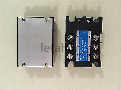 Three Phase Solid State Relay SSR 25A 40A 60A 100A 3-32VDC Input / 480VAC Output